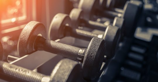 Form a habit by going to the gym